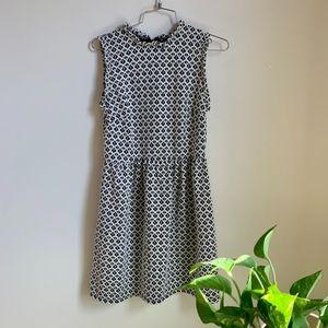 Xhilaration Black and White Ruffle Dress sz S